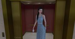 Entrance no.261 (Curiosse) Tags: dress light blue vintage 50s retro vestido azul claro virtue 2018