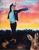 Follow the rabbit (HBA_JIJO) Tags: streetart urban graffiti paris animal art france hbajijo wall mur painting peinture spray urbain charactere adey lapin rabbit stencil pochoir