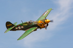 Breckenridge TX Airshow 2018 - Flying Tiger (d-day buff) Tags: airplanes airshow bombers breckenridge clouds fighters flying hot sky smoke texas wwii