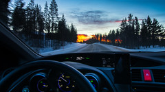 -12°C, Lapland, 20161223 (G · RTM) Tags: cockpit temperature driving snow sunset speedometer interior hondacivic