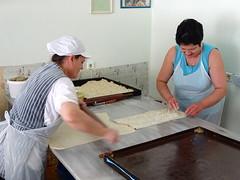 Women Rolling Filo Pastry for Burek - Saranda - Albania
