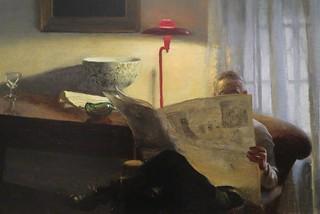 John Koch - detail from The reader (1955)