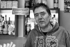 the coffee man (Claudia Merighi) Tags: blackandwhitephotos portraiture portrait porträt coffee barman bar baritaliano 1958 claudiamerighi ricoh ritrattoinbn