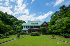 The facade of Former Residence of Marquis Kacho (旧華頂宮邸) (christinayan01 (busy)) Tags: architecture building perspective green forest housing residence kamakura japan kanagawa