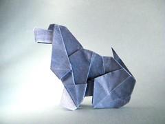 Cocker - Barth Dunkan (Rui.Roda) Tags: origami papiroflexia papierfalten dog chien cachorro cão perro cocker barth dunkan