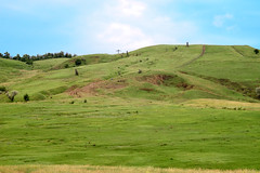 Fields and hills under the evening sky. North Caucasus (uiriidolgalev) Tags: fields hills under evening sky north caucasus