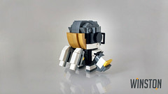 Winston (curtydc) Tags: brickheadz brickhead brick head blockhead block winston symetra overwatch moc cute toy kawaii model bricks lego custom kit