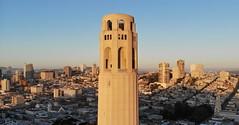 Coit Tower (A Sutanto) Tags: san francisco city skyline drone aerial view coit tower sunrise magic hour dawn morning light icon landmark telegraph hill