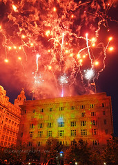 The Sun, The Moon and The Stars (.annajane) Tags: pierhead cunardbuilding liverpool merseyside projections fireworks pyrotechnics lightshow thesun themoon thestars houseofsuarez uk england