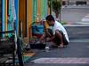 Morning bath (A. Yousuf Kurniawan) Tags: morning people hobby streetphotography urbanlife pangkalanbun colourstreetphotography colourful decisivemoment activity borneo kalimantan