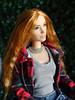 Good Night Sun! (FreeRangeBarbie) Tags: barbie fashion mera summer countryliving gardening diorama miniature onesixthscale redhead