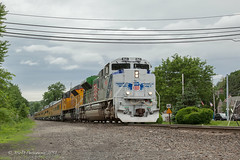 UP EMD SD70AH #1943 @ Tuxedo, NY (Darryl Rule's Photography) Tags: 1943 2018 clouds cloudy diesel diesels emd eastrutherford june metronorth nj njt ns ny newjersey newjerseytransit newyork norfolksouthern ocs passenger passengertrain railroad railroads sd70ace spiritoftheunionpacific spring train trains tuxedo up unionpacific