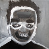 No. (Peter Van Lancker) Tags: children acrylic portrait black white asd ass autism