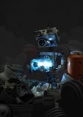 Junkyard 2: The Gatherer (Anthony (The Secret Walrus) Wilson) Tags: lego moc afol tfol robot junkyard series photography lighting rustyard rustbot dystopia gear machine