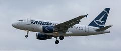 TAROM Airbus A-318 landing at London Heathrow (Alaskan Dude) Tags: travel europe england london londonheathrowairport heathrow myrtleavenue planespotting planewatching airplanes aviation jets airlines airliners
