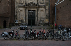 Leiden (Julysha) Tags: leiden bikes church city summer june 2018 acr thenetherlands people d810 nikkor247028 evening architecture dutch