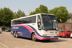 FMR 20202 @ Cheltenham Spa train station (ianjpoole) Tags: first midland red volvo b12 plaxton excalibre y702jld 20202 working rail replacement bus service from cheltenham spa train station worcester shrub hill