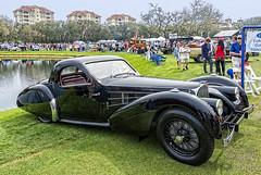1937 Bugatti 57S Atalante Coupe by Gangloff at Amelia Island 2018 (gswetsky) Tags: amelia island concoure delegance antique bugatti atalante 57s 57 gangloff classic ccca european french