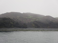 Volcanic rubble and lava to left as we arrive via ferry at the Westman Islands, Iceland (Travel writer at KristineKStevens.com) Tags: iceland ferry westmanislands vestmannaeyjar