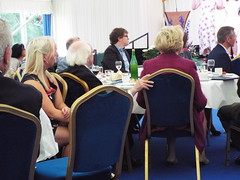 Irish President Michael D Higgins and Sabina Higgins enjoy the Deaf Youth Choir perform at Aras an Uachtarain (sean and nina) Tags: aras an uachtarain irish ireland eire eireann garden party marquee indoors inside tent formal gathering dinner meal entertainment people persons performers performances candid public male female summer june 2018 dublin phoenix park state residence home michael d higgins president tables seated sitting food drink happy colour color colourful colorful white unposed posed posing singing music musicians deaf youth young non hearing sign language signing