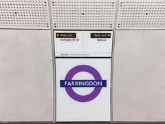 Farringdon roundel (diamond geezer) Tags: farringdon crossrail farringdon18