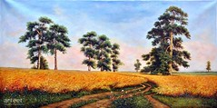 Golden Breeze, Wheatfields, Art Painting / Oil Painting For Sale - Arteet™ (arteetgallery) Tags: arteet oil paintings canvas art artwork fine arts landscape tree sky grass summer trees clouds season rural scenery autumn spring field outdoors land country outdoor countryside meadow maple leaves agriculture fall cloud horizon scenic leaf sunny farm plant scene yellow oak sun natural day colorful outside weather travel mountain wilderness landscapes fields pastorals orange cyan paint