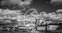 The London Eye (daveseargeant) Tags: london eye westminster leica x typ 113 monochrome white black attraction