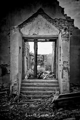 Time Portal (Scott Sanford Photography) Tags: 6d abandoned bigbend canon chihuahandesert ef2470f28l eos ghosttown naturalbeauty naturallight outdoor springbreak terlingua texas topazlabs weathered antique decay desert forgotten historic old roadtrip travel vacation blackandwhite bw monochrome