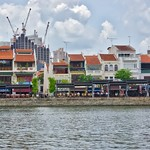 Boat Quay with restaurants by the river in Singapore thumbnail