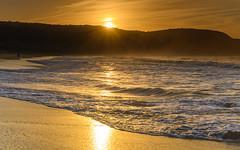 Sunlight Sunrise Seascape (Merrillie) Tags: daybreak sunburst sunrise sun nature cloudy australia sunlight nsw centralcoast clouds sea newsouthwales rocks earlymorning morning water landscape ocean sunrays sky waterscape coastal seascape outdoors killcarebeach dawn coast killcare waves