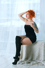 Power of pure sexuality (Kostya Romantikov) Tags: moscow russia russian girl woman lady tomakitsune redhead pantyhose 20den heels skirt short shortdress high highheels slenderlegs الساقيننحيلة λεπτόπόδι רגלייםדקות piernasesbeltas gambesnelli 细长的腿 schlankebeine picioarelesubțiri incebacaklar ohutjalat jambesélastiques 細い脚 skincolorpantyhose skincolortights blackboots dress overknee boots overkneeboots black mini blackdress