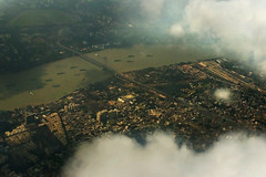 City of Joy (Debmalya Mukherjee) Tags: kolkata vidyasagarsetu flight cloudscape debmalyamukherjee motog3 bridge ganges hooghly