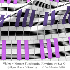 'Violet + Mauve Fascinatin' Rhythm by Su_G': fabric mockup (Su_G) Tags: 2018 sug spoonflower musicalinstrument keyboard pianokeyboard pianokeyspattern mauve purple blackandwhite violetmauvefascinatinrhythmbysug violet fascinatinrhythm fabric mockup fabricmockup rockroll rhythm music jazz ultraviolet