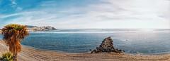 2018-05-29 15.19.04 (anyera2015) Tags: ceuta panorámica panorama noblex 135s 135 kodak portra 160vc caducado expired playa nubes nublado hdr noblex135s kodakportra160vc chorrillo espigón