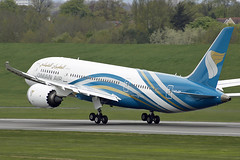 A40-SB Oman Air 787-8. Birmingham 30/04/2018 (Tu154Dave) Tags: a40sb oman boeing 787 7878 dreamliner bhx birmingham airport aircraft