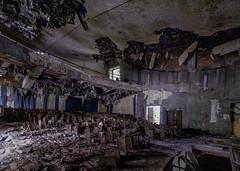 End of the Show - URBEX ((Virginie Le Carré)) Tags: urbex urbain urban lost derelict decay decayed desolate désaffecté d800e hdr salle spectacle show italie fauteuil chair plafond roof scène scene intérieur inside