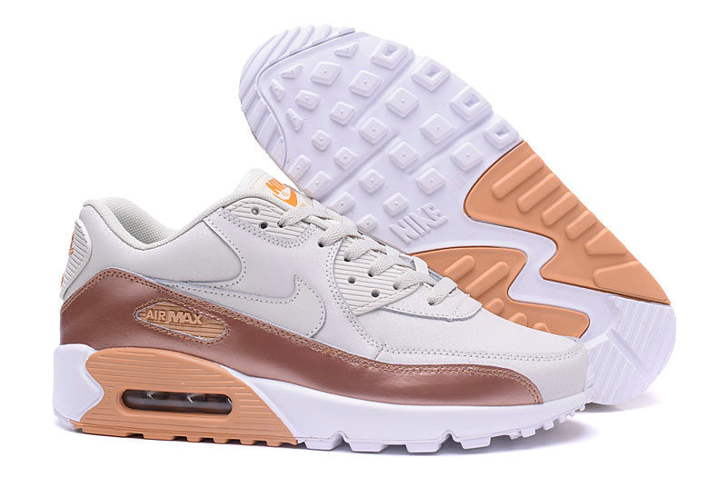 save off f967f dcc53 New 2018 Air Max Cheap x Nike Air Max 90 Mens Luxury gold color cream white
