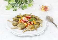 Alcachofas con vinagreta (Frabisa) Tags: recetas cocinacasera cocinasaludable alcachofas vinagreta fresas mango recipes homemadecooking healthycuisine artichokes vinaigrette