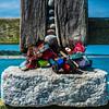 Abgeschlossen (Art de Lux) Tags: zingst seebrücke pier stein stone holz wood schloss lock vorhängeschloss padlock geländer railing ostsee balticsea strand beach himmel sky blau blue grau gray bunt colorful panasonic gx8 1260f3556