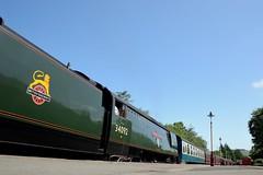 34092: Blue Skies (Gerald Nicholl) Tags: 34092 wells cityofwells westcountry elr eastlancashire bury express steam engine loco train lancashire bulleid