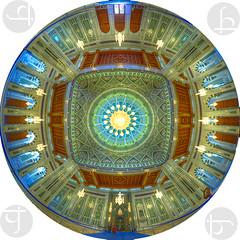 Circulus Sanctorum (TJ.Photography) Tags: mosque interior oman muscat panorama circular islamic art artwork architecture islamicarchitecture islamicart islam muslims worship
