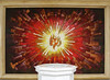 Fan into a Flame (Lawrence OP) Tags: holyspirit flame fire painting font baptism grace confirmation