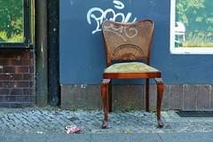 Please take a seat #632 (österreich_ungern) Tags: flechtwerk chair gelsenkirchener barrock stuhl kirschholz lost abandoned facade grafitti streetart window neukölln frontal decay berlin 44 old antik precious dusty cigarettes