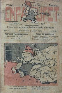 Issue No. 1 January 3, 1904, En Patufet. The First cartoon in Catalan to enjoy and to teach kids new words, Barcelona.
