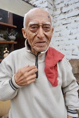 Angel Tamay, ceramicist, Trujillo - 2 (Yekkes) Tags: latinamerica southamerica peru trujillo old experienced mature age elderly distinguished achievement artist ceramicist angeltamay red scarf