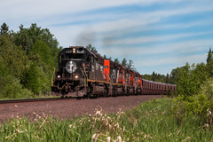 4-Pack out of Minntac (Jake Branson) Tags: train railroad locomotive cn canadian national sd403 emd ic illinois central dmir missabe iron range mn minnesota ore taconite 6260