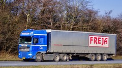 BN55443 (18.02.14, Motorvej 501, Viby J)DSC_1603_Balancer (Lav Ulv) Tags: daf dafxf xf105 105460 e5 euro5 6x2 2011 frejatransportlogistics gedstedtransportservice driverdankristensen curtainside planentrailer gardintrailer kelbergtrailer truck truckphoto truckspotter traffic trafik verkehr cabover street road strasse vej commercialvehicles erhvervskøretøjer danmark denmark dänemark danishhauliers danskefirmaer danskevognmænd vehicle køretøj aarhus lkw lastbil lastvogn camion vehicule coe danemark danimarca lorry autocarra motorway autobahn motorvej vibyj highway hiway autostrada trækker hauler zugmaschine tractorunit tractor artic articulated semi sattelzug auflieger trailer sattelschlepper