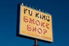 Fu King Smoke Shop (dangr.dave) Tags: gallup nm newmexico sign neon neonsign route66 mckinleycounty fukingsmokeshop smokeshop fuking