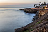 Sunset Cliffs with Light Trail from Long Exposure (Photos By Clark) Tags: location california northamerica canon2470 canon5div unitedstates sandiego cities locale places where us longexposure lights cartrails water pacific waves rocks cliffs palm