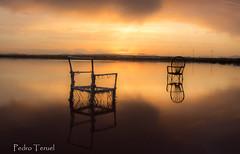 puesta de sol (pedrojateruel) Tags: salinas de la mata torrevieja atardecer luz sal agua